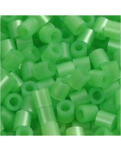 PhotoPearls, medidas 5x5 mm, medida agujero 2,5 mm, verde perla (22), 6000 ud/ 1 paquete