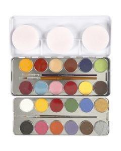 Pintura facial a base de agua, surtido de colores, 24 color/ 1 set