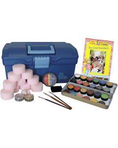 Set de maquillaje al agua- kit de iniciación, surtido de colores, 1 set