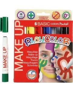 Maquillaje Playcolor, surtido de colores, 6x5 gr/ 1 paquete