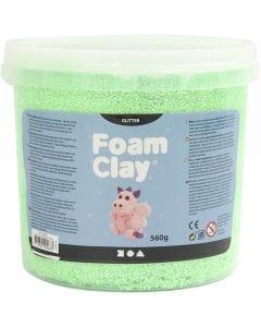 Foam Clay®, purpurina, verde, 560 gr/ 1 cubo