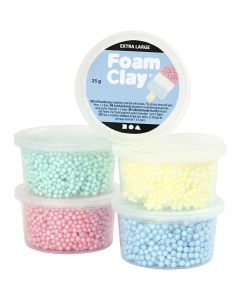 Foam Clay Extra Large, surtido de colores, 5x25 gr/ 1 paquete