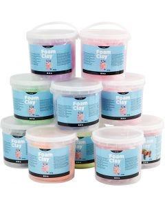 Foam Clay®, purpurina,Metálica, El contenido puede variar , 10x560 gr/ 1 paquete