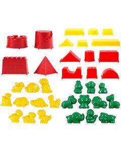 Moldes para arena, medidas 3,5-9,5 cm, 36 ud/ 1 paquete