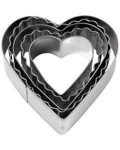 Cortador de galletas, Corazón, medidas 8 cm, 5 ud/ 1 paquete