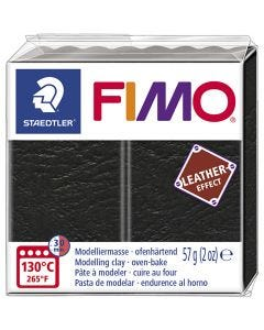 FIMO® Leather Effect, black (909), 57 gr/ 1 paquete