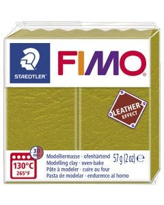 FIMO® Leather Effect, olive (519), 57 gr/ 1 paquete