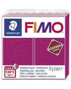 FIMO® Leather Effect, berry (229), 57 gr/ 1 paquete
