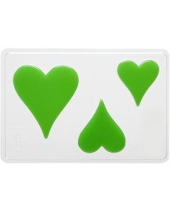 Molde decorativo , corazon, A: 6+8+10 cm, medidas 14,9x22 cm, 1 ud