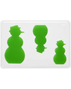 Molde decorativo , muñeco de nieve, A: 6+8+10 cm, medidas 14,9x22 cm, 1 ud