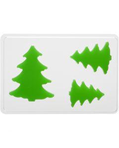 Molde decorativo , arbol de navidad, A: 6+8+10 cm, medidas 14,9x22 cm, 1 ud