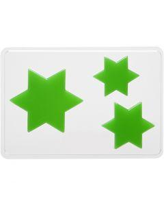 Molde decorativo , estrella, A: 6+8+10 cm, medidas 14,9x22 cm, 1 ud