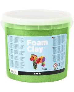 Foam Clay®, Metálica, verde, 560 gr/ 1 cubo