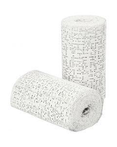 Vendaje de yeso, L. 2,7 m, A: 10 cm, 2 rollo/ 1 paquete