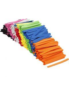 Espuma EVA palos de hielo, L. 11,5 cm, A: 1 cm, grosor 2 mm, surtido de colores, 1000 ud/ 1 paquete
