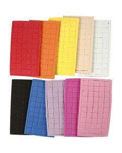 Formas de goma EVA, medidas 8x8 mm, surtido de colores, 80 hoja/ 1 paquete