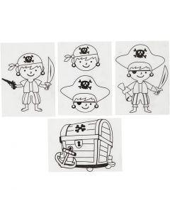 Hojas de Shrink Plastic con motivos, 10,5x14,5 cm, 4 hoja/ 1 paquete