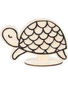 Figura de decoración, Tortuga, A: 10 cm, 1 ud