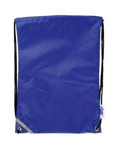 Bolsa con cordón, medidas 31x44 cm, azul, 1 ud