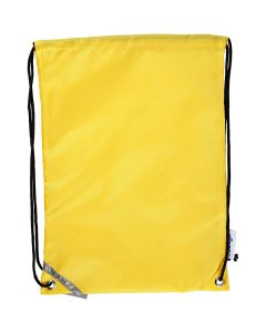 Bolsa con cordón, medidas 31x44 cm, amarillo, 1 ud