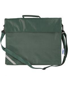 Bolsa escolar, medidas 36x31 cm, verde, 1 ud