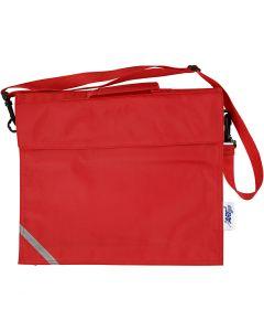 Bolsa escolar, medidas 36x31 cm, rojo, 1 ud
