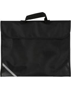 Bolsa escolar, medidas 36x29 cm, negro, 1 ud