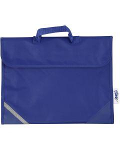 Bolsa escolar, medidas 36x29 cm, azul, 1 ud