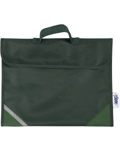 Bolsa escolar, medidas 36x29 cm, verde, 1 ud