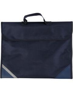 Bolsa escolar, medidas 36x29 cm, azul oscuro, 1 ud