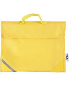 Bolsa escolar, medidas 36x29 cm, amarillo, 1 ud