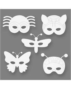 Máscaras de insectos, A: 14-17 cm, A: 19,5-23 cm, 230 gr, blanco, 16 ud/ 1 paquete