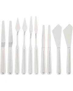 Paletas y cuchillos de plástico, A: 13-33 mm, 10 ud/ 1 paquete