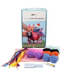 DIY Kit de lanas - Animales, 1 set