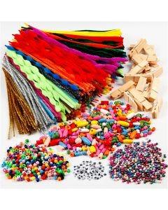 Diversión con cuentas y limpia pipas, surtido de colores, 1 set