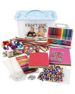 Caja de manualidades, surtido de colores, 1 ud