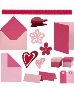 Happy moments- Kit de Tarjetería, surtido de colores, 160 uds de vta/ 1 paquete