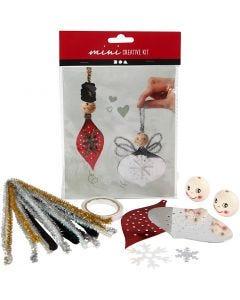 Creative mini kit, Figuras recortadas para crear decoraciones colgantes, 1 set