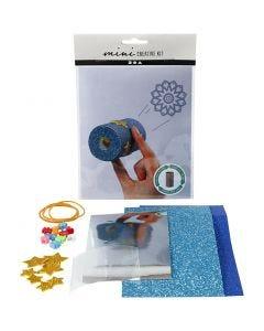 Minikit creativo, Caleidoscopio con papel higiénico, 1 set