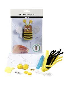Minikit creativo, Papel higiénico para abeja saltarina, 1 set