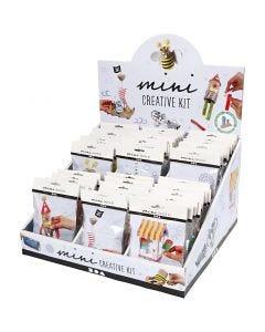 Expositor de mesa con minikits creativos, 60 set/ 1 paquete