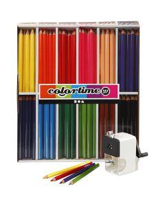 Lápices de colores Colortime, mina 5 mm, surtido de colores, 1 set