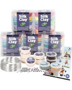 Sets escolares - Personajes en Silk Clay, 1 set