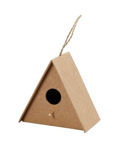 Casa de pájaro, A: 10 cm, medidas 10x6 cm, 1 ud