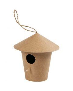 Casa de pájaro, A: 10,5 cm, medidas 10,5x11 cm, 1 ud