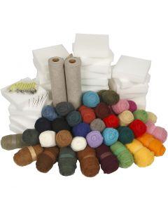 kit de fieltro - Pack escolar, surtido de colores, 1 set