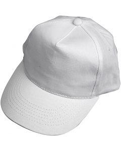 Gorra, medidas 49,5-56 cm, blanco, 1 ud
