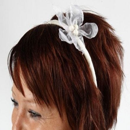 A Lovely Hair Band with an Organza Flower