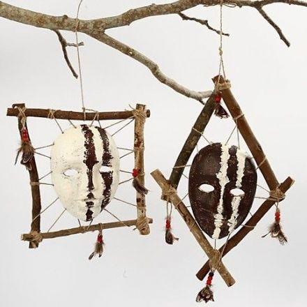 A Framed African Mask