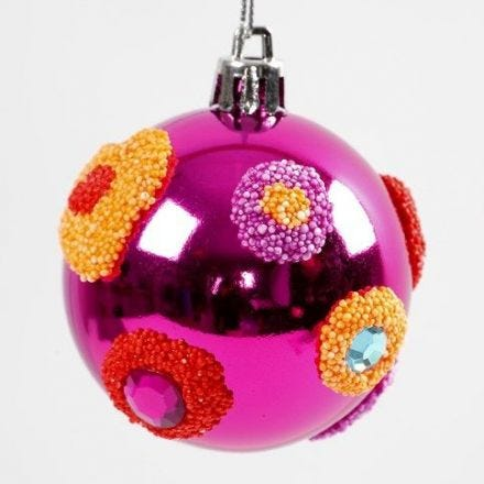 Foam Clay Decoration on a Christmas Bauble